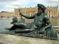 Neptune and the Palace of Versailles in France