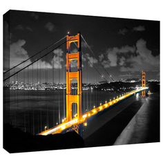 Found it at AllModern - 'San Francisco Bridge' by Revolver Ocelot Photographic Print on Wrapped Canvas