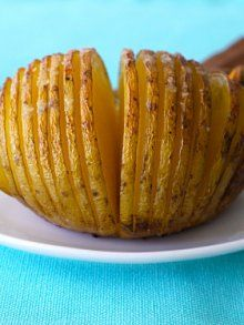 Yukon Gold Potato Fans from Weelicious. I'm making these the next time we have steak!