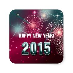 Christmas and New Year's 2015 Gift Stickers