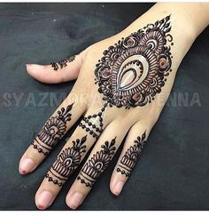 "2,998 Likes, 4 Comments - We Are Here To Inspire You (@hennalookbookin) on Instagram: ""Henna @syazmoralee_henna"""