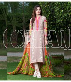 Charizma Range Vol-3 Luxury Lawn Embroidered Collection CR-611
