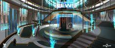 ArtStation - Shadow Warrior 2: ZNN daily news station, Magdalena Radziej