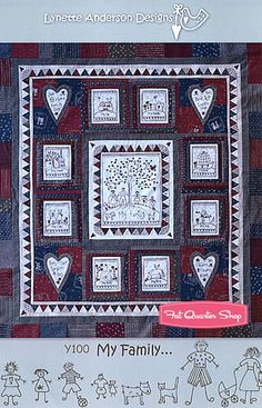 My Family Quilt Pattern Lynette Anderson Designs