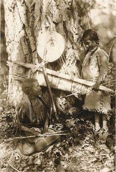 """""""Chief's Daughters"""" 1908 (Ojibwe) Photo: Roland W. Reed (1864-1934) Native Americans Indians"""