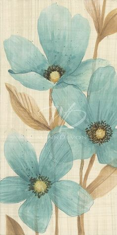 Waterflowers by Manuela MAJA Jarry - Montreal, Quebec, Canada. pretty.- this, but with vibrant colors, add gray and a little chartreuse.