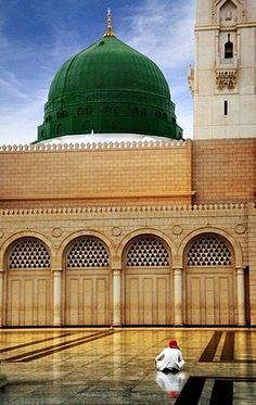 Coolness of Eyes, Green Dome- Gumbad E Khazra. Rauza e Rasool (Sallallahu Alayhe Wassallam), Medina Munawarra.