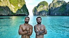 World Party TV Show in Thailand, Alpha TV, with Sakis Tanimanidis and Georgios Mavridis. Wednesday 13 May 2015 Thailand, Tv Shows, Around The Worlds, Entertaining, Statue, Guys, Yolo, Wednesday, Party