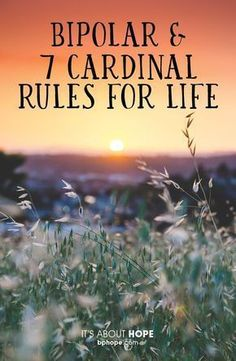 Bipolar Disorder and 7 Cardinal Rules for Life