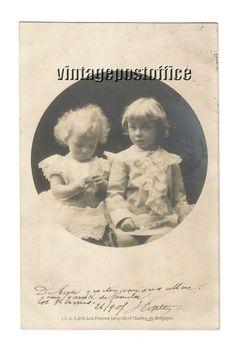 Belgian Royals vintage postcard Les Princes door vintagepostoffice