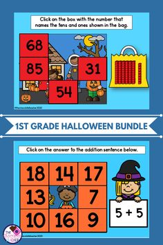 Are you looking for a fun activity to keep your students engaged and focused during the month of October? This digital BOOM Learning bundle brings 4 BOOM decks that practice CVC Words, addition to 18, high frequency sight words, and place value with tens and ones. These activities are Halloween themed and geared towards first grade or as an intervention activity for second grade students. These can be used for distance learning, small groups, homework, or as intervention. First Grade Phonics, First Grade Sight Words, Second Grade, Tens And Ones, Halloween Math, Teaching Phonics, Get More Followers, High Frequency Words, Cvc Words