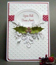 Une carte pour noël et les voeux. by papierscrapetc - Cards and Paper Crafts at Splitcoaststampers