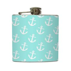 Anchor Symbol Flask Sorority Sister Big Little Rush Pledge College Nautical Bridesmaid Gifts - Stainless Steel 6 oz Liquor Hip Flask LC-1100 $20 #dg #delta #gamma