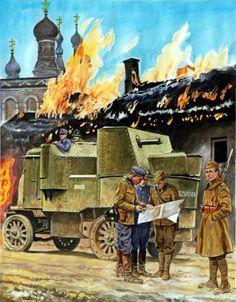 Polish-Soviet War 1919-1920. Autoametralladora polaca - Marek Szyzsko | ^ 444,50´,... F (hist) !! + https://de.pinterest.com/marcoabal/russo-polish-war/