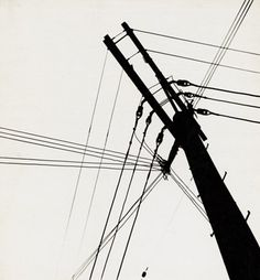 Ferenc BERKO  Telephone Wires, Chicago,1947-48  Vintage gelatin silver print 11 7/8 x 10 15/16 inches