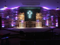 Pallet Wall in our Youth Room Meadow View Church of Christ Frazeysburg, OH.