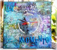 Gorgeous clock created with Lindys Stamp Gang products.