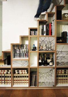 Dvd storage Under Stairs - 30 Very Creative And Useful Ideas For Under The Stairs Storage... #Dvdstorage #UnderStairs #Basementstairsdecor