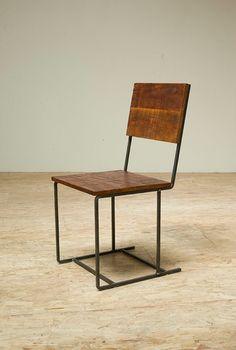 Douglas Fir and Iron Chair