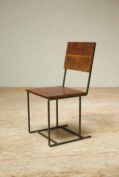 Reclaimed Douglas Fir & Recycled Iron Steel Mt. Whitney Chair from Blake Avenue in Los Angeles as shown on Etsy - $295