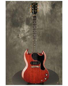 1965 Gibson SG Junior Jr CHERRY wide nut 1-11/16