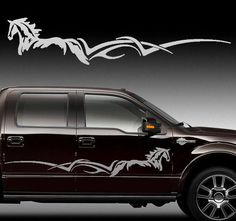 """Side Body Horse Stripe Decal Graphic Truck Trailer 60"""""""