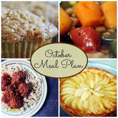 October Meal Plan! Inspiration and a menu plan idea for the month of October!