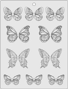 butterfly Template/stencil for chocolate decorations (frosting for cookies decorating) Cake Supplies, Cake Decorating Supplies, Cake Decorating Techniques, Cookie Decorating, Baking Supplies, Royal Icing Templates, Royal Icing Transfers, Cake Templates, Chocolate Template