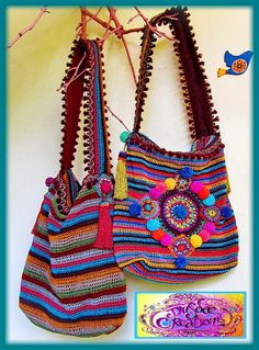 https://flic.kr/p/j8KLvM | ~ Colorful crochet bags by me ~