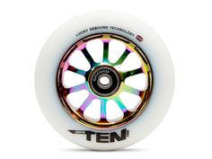 The TEN™ Wheel 110mm features Lucky Rebound Technology™ (LRT™), a combination of high-performance urethane, a new pouring process, and a proprietary curing method which gives these wheels a grippy, fa