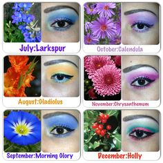 Which month are u?!! Month's flowers makeup!