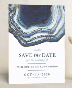 Announce your upcoming wedding with one of the best save the dates out there—especially one that represents who you are as a couple. Geode blue save the date. Blue Wedding, Diy Wedding, Dream Wedding, Wedding Ideas, Save The Date Online, Invitation Cards, Wedding Invitations, Glamour Shop, Blue Save The Dates