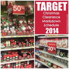 Target Christmas Clearance 2014 Target holiday markdowns usually follow a3-3-2schedule. Clearance merchandise goes to 50% off the day after the holiday, then3days later 70%. One exception: Ba...