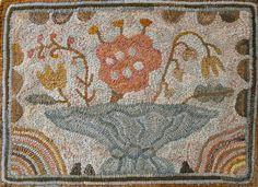 Odd Flower rug hooking pattern Primitive Spirit