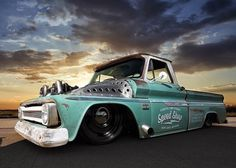 "lowfastfamous: ""Hot Wheels - Oh damn Chevrolet ""Tiffany"" is a twin turbo boost making beast, she's one cool truck! Hot Rod Trucks, Cool Trucks, Cool Cars, Chevy C10, Chevy Trucks, Chevrolet, 2015 Camaro Zl1, Classic Trucks, Classic Cars"