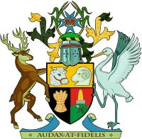 Coat of arms of Queensland, Australia. The coat of arms of Queensland is the oldest in Australia, and was first granted in by Queen Victoria in 1893 through the simplest form of heraldic grants; with the shield of arms, motto, helmet, mantling and crest.