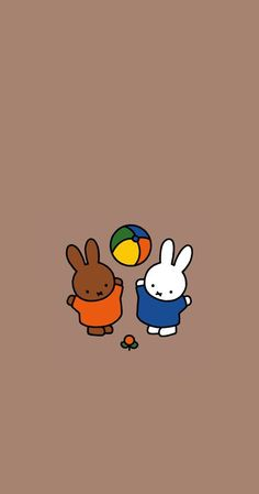 Bear Wallpaper, Iphone Background Wallpaper, Pastel Wallpaper, Wallpaper Ideas, Miffy, Japanese Poster, Line Friends, Cute Cartoon Wallpapers, Cute Disney