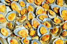 Grilled limpets. A delicacy of Azores islands. São Jorge, Portugal