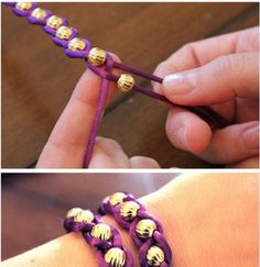 Make and sell some friendship bracelets, a great fundraising activity to do with children. We love that these are Hft purple!