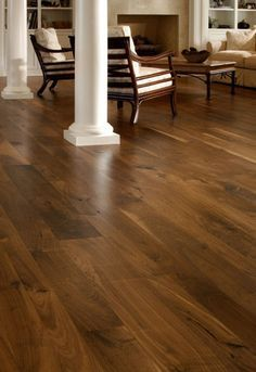 walnut floors.