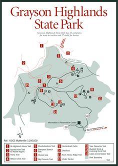 grayson highlands park 6hr away, 10 mile  creekside, waterfalls, rhodedondren tunnels, blueberry patches, & wild ponies!