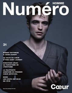 Robert Pattinson covers the most recent issue of Numéro Homme.