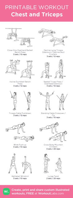 Chest and Triceps: #printable #workout #routine