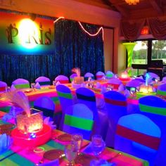 Neon Bat Mitzvah - Countryside Country Club Clearwater, Fl