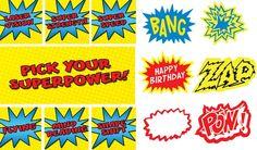 superhero birthday party ideas   Kids Party Hub: FREE Superhero Party Printables