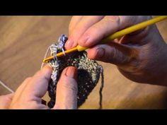 Cuello de 4 botones Punto media mariposa crochet 002 - YouTube