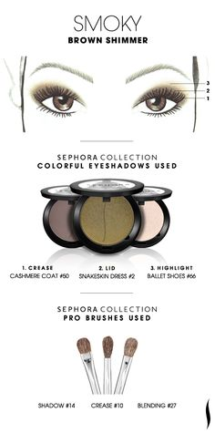 SMOKY: Brown Shimmer HOW TO #sephoracollection #sephora #eyeshadow #makeup #SephoraSweeps