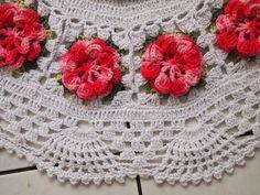 Tapete redondo com flores pink   CROCHES DA ELSA   Elo7