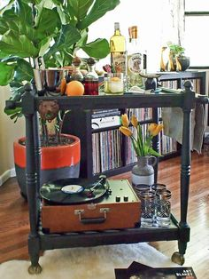 Style a bar cart just for Dad>> http://www.hgtv.com/holidays-and-entertaining/10-easy-diy-fathers-day-gifts/pictures/page-5.html?soc=pinterest