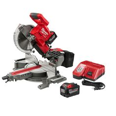 Milwaukee FUEL Lithium-Ion Brushless Cordless 10 in. Dual Bevel Sliding Compound Miter Saw Kit with Extra - The Home Depot Milwaukee Miter Saw, Milwaukee Tools, Milwaukee M18, Sliding Mitre Saw, Sliding Compound Miter Saw, Compound Mitre Saw, Cordless Circular Saw, Circular Saw Blades, Volt Ampere